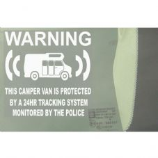 1 x Camper Van Dummy/Fake GPS Tracking System Device Unit-Campervan Security Alarm Warning Window Stickers - Police Monitored Vinyl Sign